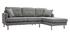 Canapé d'angle droit scandinave gris clair CODDY