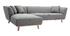 Canapé d'angle gauche 5 places gris clair STUART