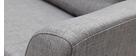 Canapé d'angle gauche convertible gris MIAMI