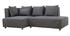 Canapé d'angle gauche effet velours gris clair HARLEM