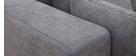 Canapé d'angle gauche effet velours gris HARLEM