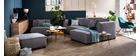 Canapé d'angle modulable 4 éléments gris clair PLURIEL