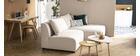 Canapé d'angle modulable beige 2 éléments PLURIEL