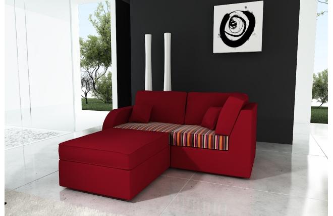 canap d 39 angle r versible 3 places microfibre framboise et coton ethnique up to you miliboo. Black Bedroom Furniture Sets. Home Design Ideas