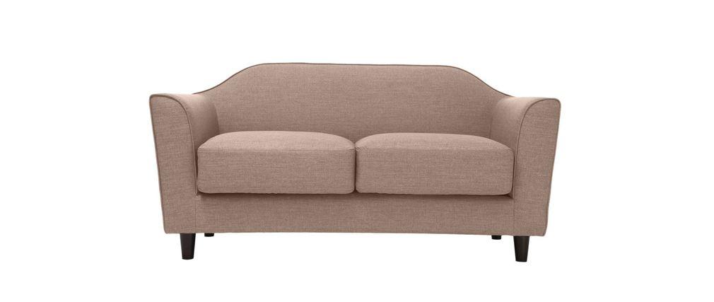 canap design 2 places beige sovha miliboo. Black Bedroom Furniture Sets. Home Design Ideas