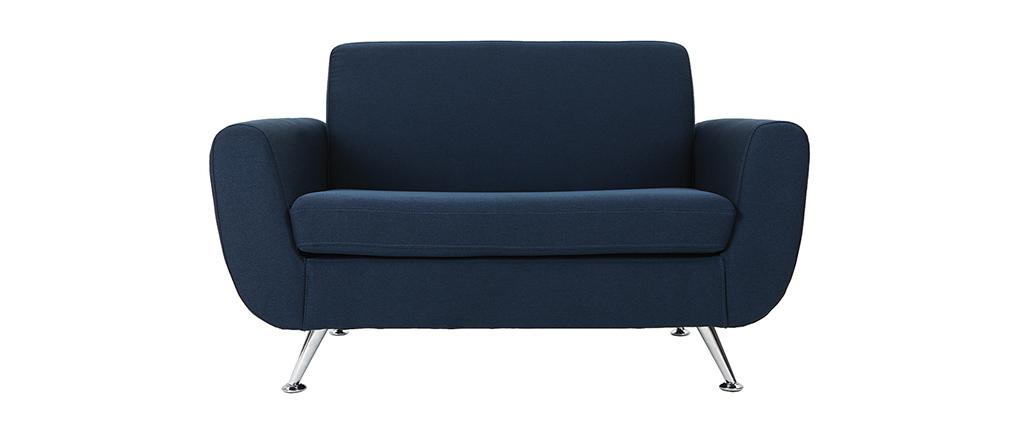 Canapé design 2 places bleu PURE