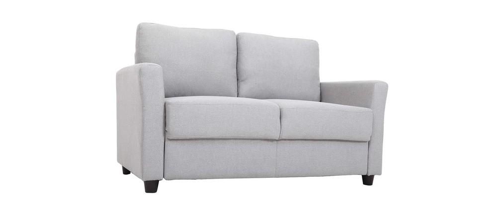 Canap design 2 places et coffre tissu et bois d 39 h v a for Canape bois et tissu