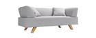 Canapé design 2 places gris ARTIC