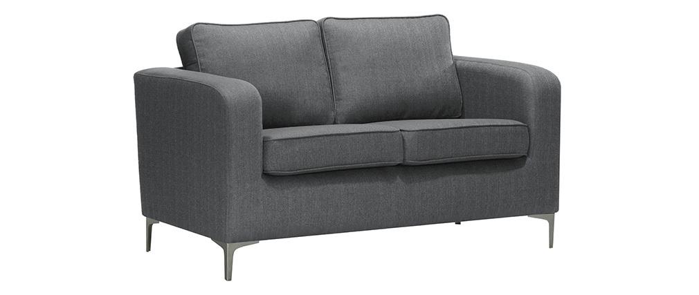 Canapé design 2 places gris clair HARRY