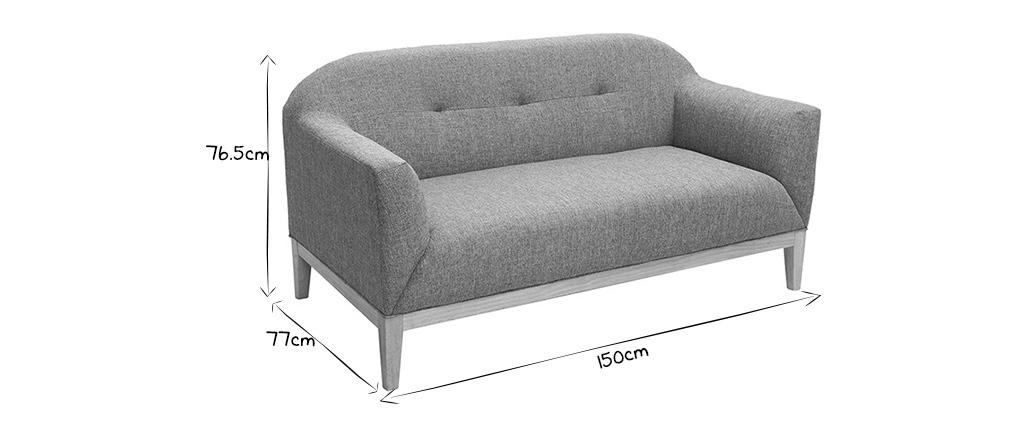 Canapé design 2 places gris MARY