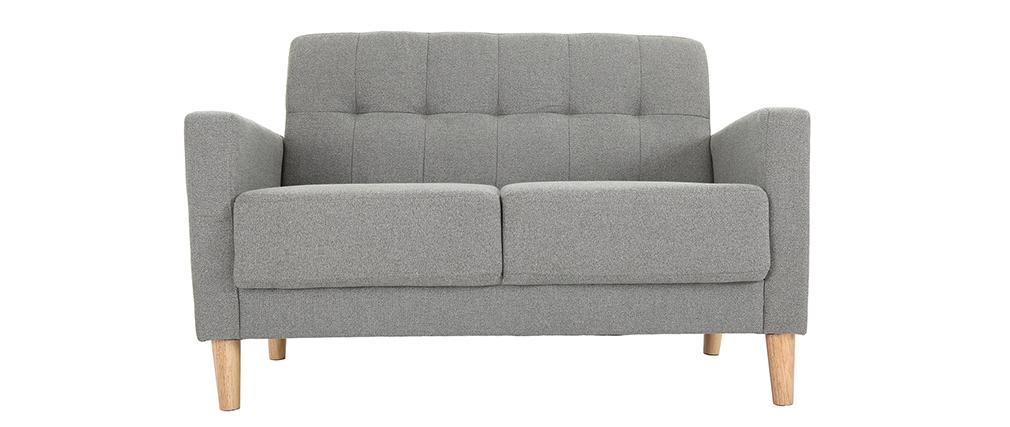 Canapé design 2 places gris MOON