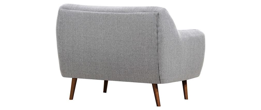 canap design 2 places gris perle pieds bois noyer olaf miliboo. Black Bedroom Furniture Sets. Home Design Ideas