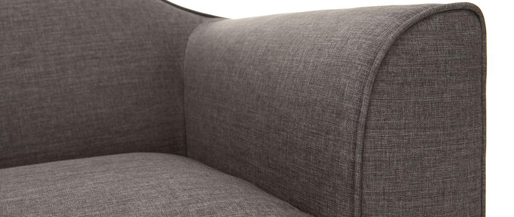 Canapé design 2 places gris SOVHA