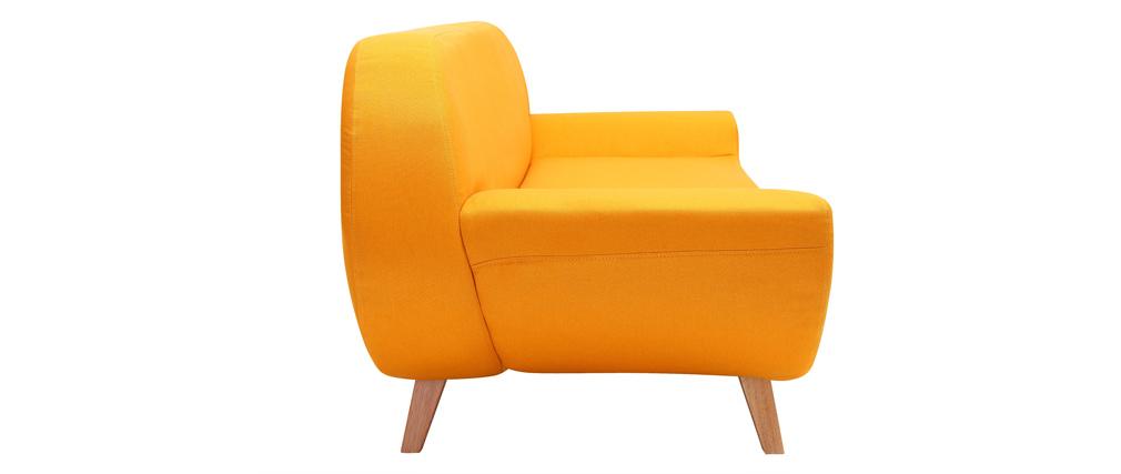 Canapé design 2 places jaune COQUI