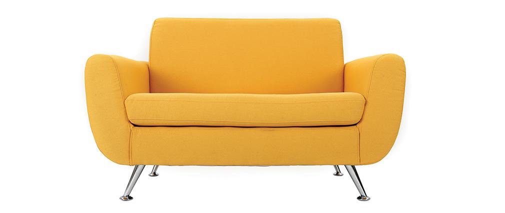 canap design 2 places jaune pure miliboo. Black Bedroom Furniture Sets. Home Design Ideas