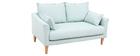 Canapé design 2 places menthe à l'eau KATE