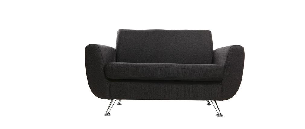 Canapé design 2 places noir PURE