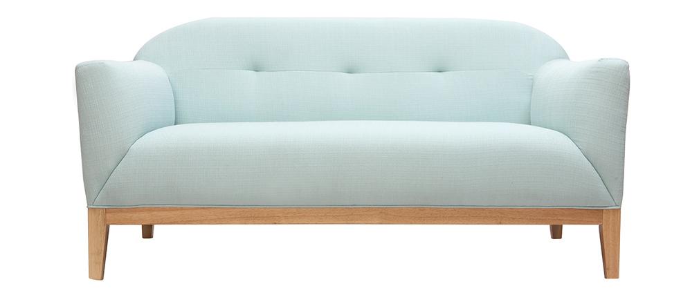 Canapé design 2 places vert menthe à l