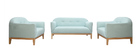 Canapé design 2 places vert menthe à l'eau MARY