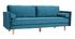 Canapé design 3-4 places velours bleu canard IMPERIAL