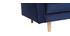 Canapé design 3-4 places velours bleu nuit IMPERIAL