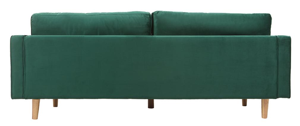 Canapé design 3-4 places velours vert émeraude IMPERIAL