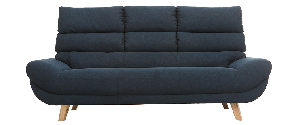Canapé design 3 places bleu NORDIK