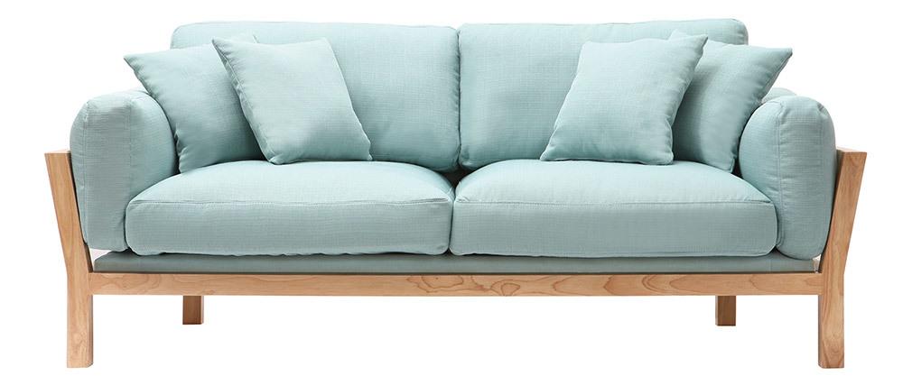 Canapé design 3 places déhoussable menthe à l