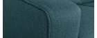 Canapé design 3 places en tissu bleu paon GOTTA
