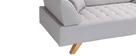 Canapé design 3 places gris ARTIC