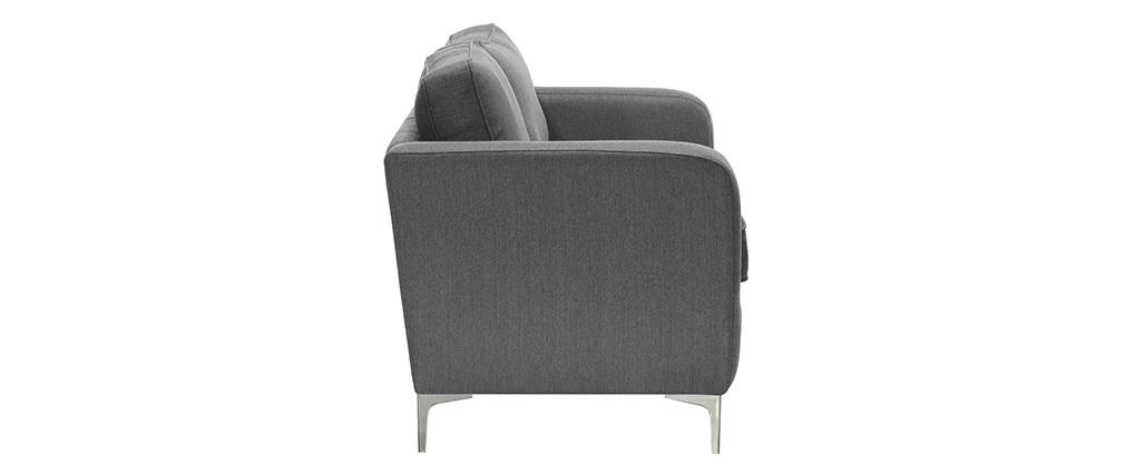 Canapé design 3 places gris clair HARRY