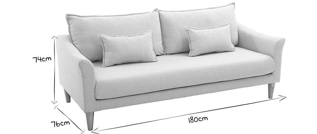 Canapé design 3 places menthe à l