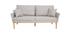 Canapé design 3 places tissu gris et frêne NORI
