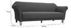 Canapé design classique gris clair 3 places MELI