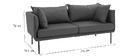 Canapé design contemporain 3 places gris clair MATHIS