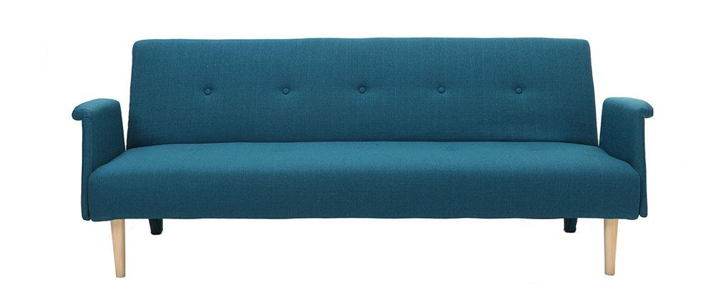 canap design convertible bleu oscar miliboo. Black Bedroom Furniture Sets. Home Design Ideas