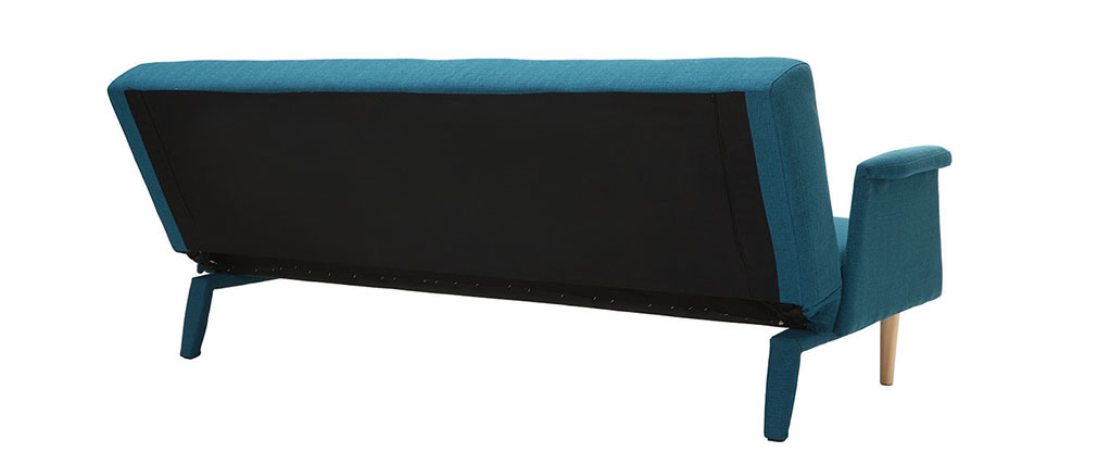 canap design convertible bleu oscar miliboo. Black Bedroom Furniture Sets. Home Design Ideas