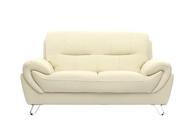 canap design cuir cr me 2 places kansas zoom. Black Bedroom Furniture Sets. Home Design Ideas