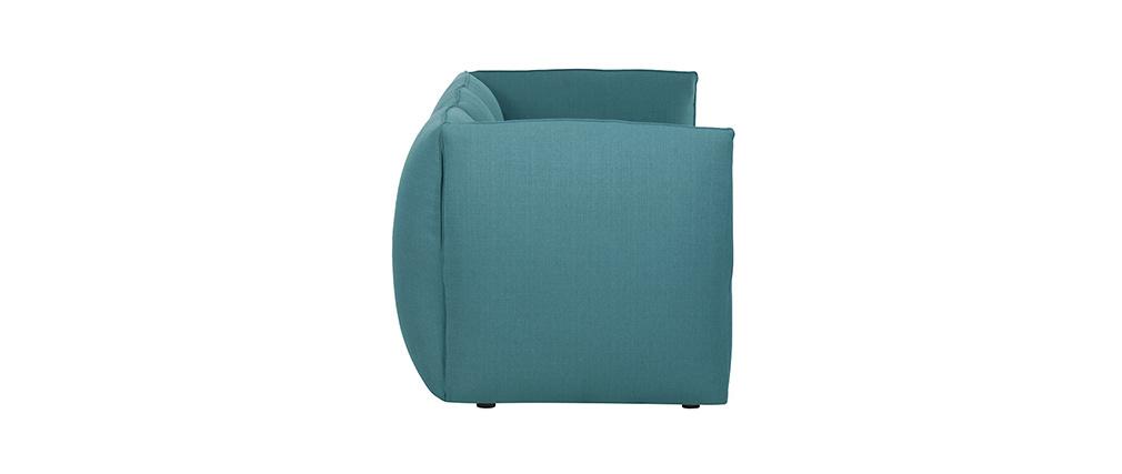 Canapé design modulable bleu canard 3 places MODULO