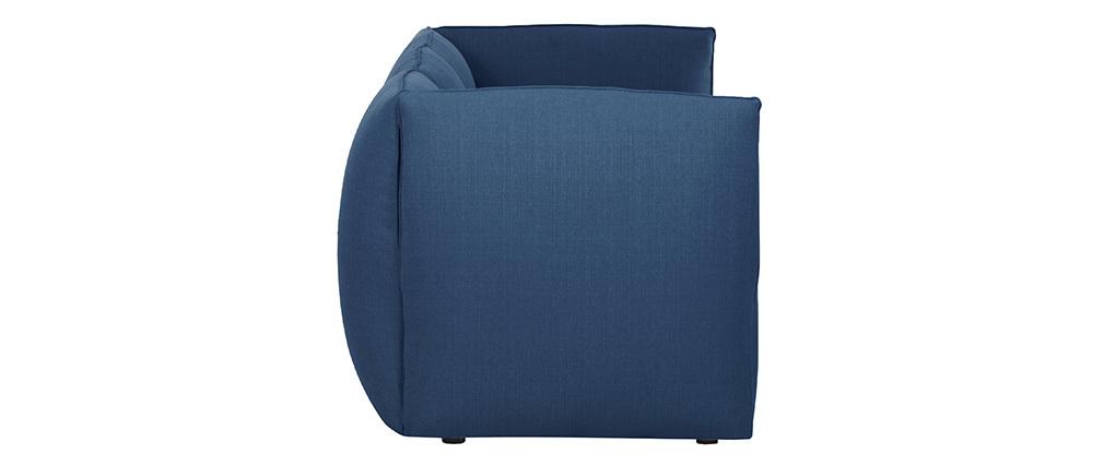 Canapé design modulable bleu foncé 3 places MODULO