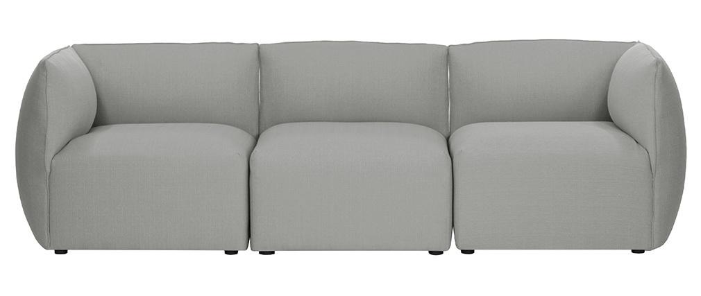 Canapé design modulable gris 3 places MODULO