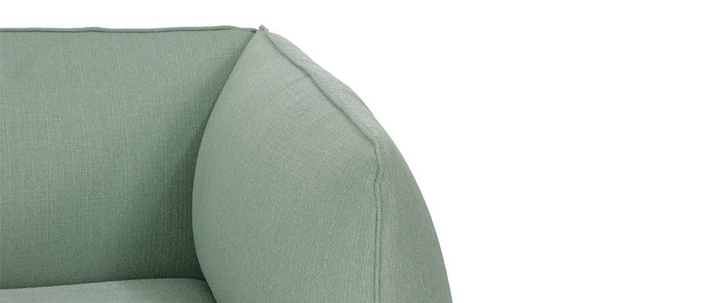 Canapé design modulable vert menthe 2 places MODULO