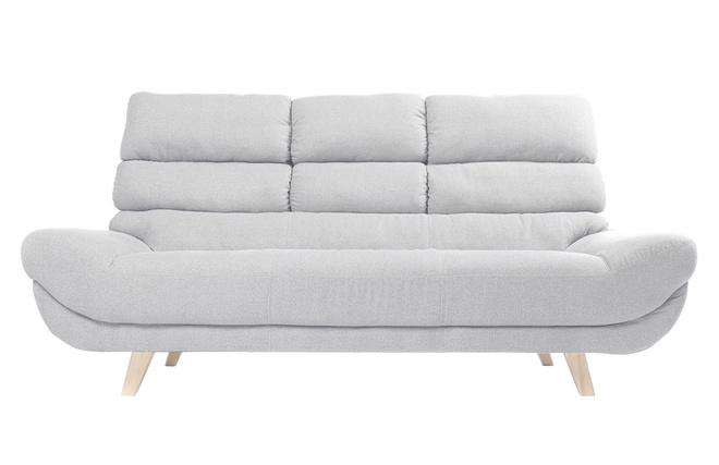 Canapé design scandinave 3 places gris NORDIK - Miliboo