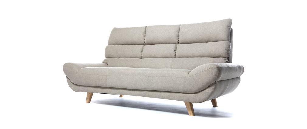 canap design scandinave 3 places naturel nordik miliboo. Black Bedroom Furniture Sets. Home Design Ideas