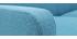 Canapé design scandinave tissu bleu canard 2 places LUNA