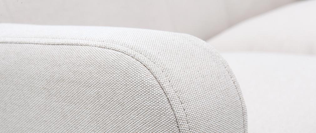 Canapé design scandinave tissu coloris naturel 2 places LUNA