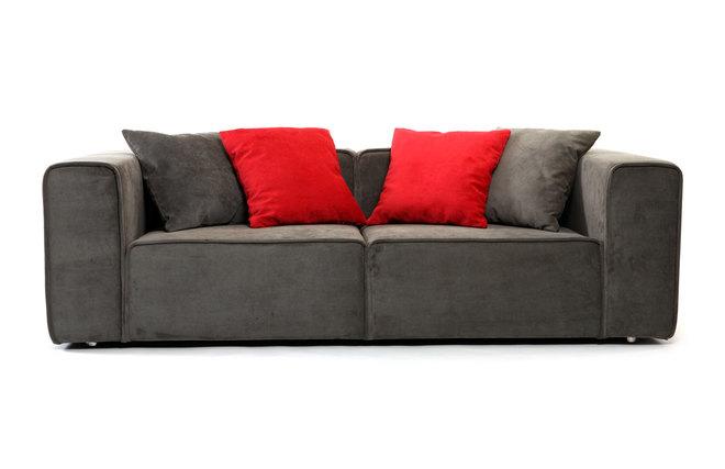 canap design taupe 3 places hanovy miliboo. Black Bedroom Furniture Sets. Home Design Ideas