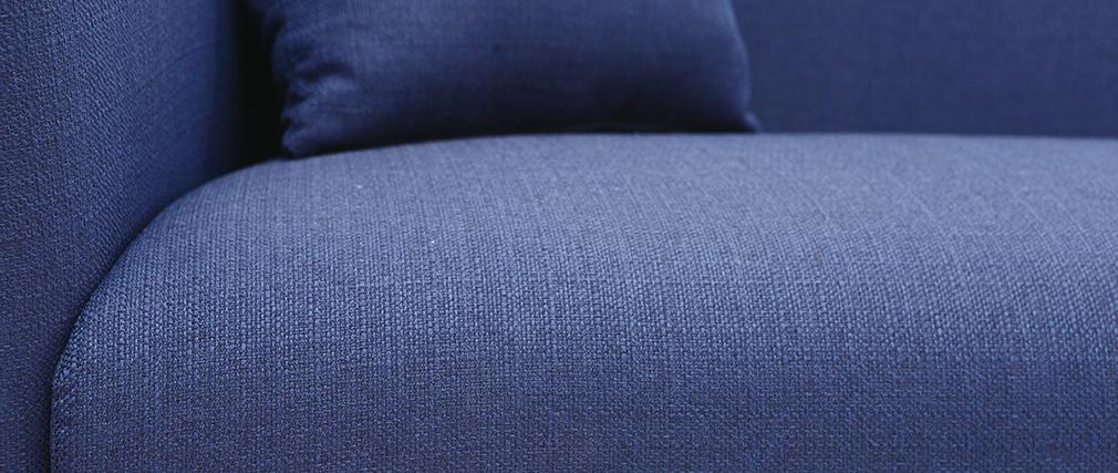 Canapé design tissu bleu foncé 3 places MOONLIGHT