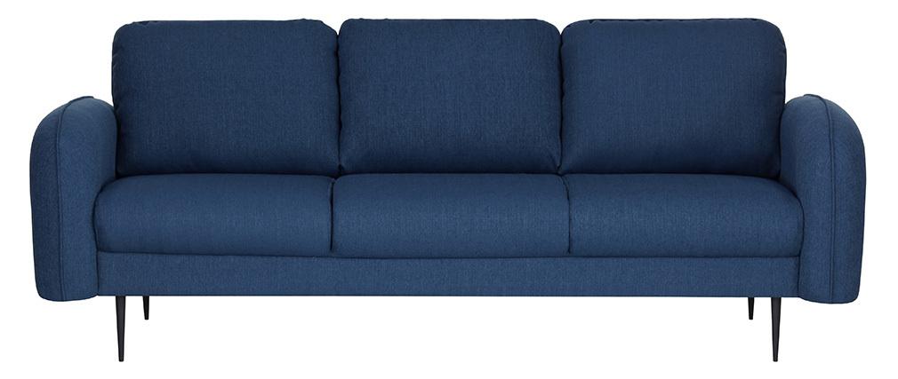 Canapé design tissu bleu foncé 3 places SIDI