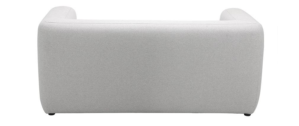Canapé design tissu gris 2 places BACIO